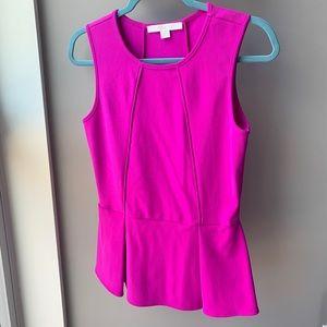 Boston Proper Peplum vibrant blouse size Small